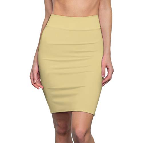 Pantone Trend 2020 Mellow Yellow Women's Pencil Skirt