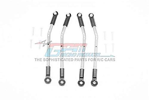 GPM HPI Venture Toyota FJ Cruiser Upgrade Parts Aluminum Adjustable Suspension Links - 4Pc Set Silver