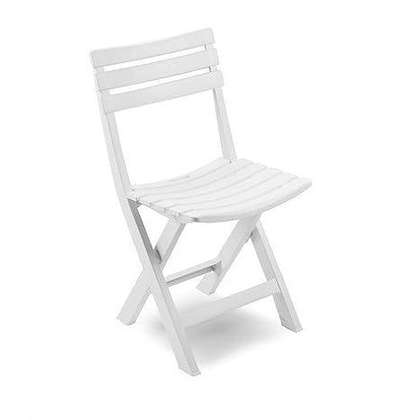 Lapergarden Pack 4 Sillas Plegable Color Blanco: Amazon.es ...