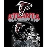 (NFL Atlanta Falcons Gridiron Fleece Throw, 50-inches x 60-inches)