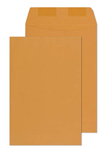 6x9 Envelopes - Mailing, Security, Invitation, Business, Legel Shipping Envelopes - Catalog Open end Envelope - 6 x 9 Inch Strong Gummed Glue Flap - Heavy Duty 28Lb Brown Kraft - Kraft End Catalog Open Brown