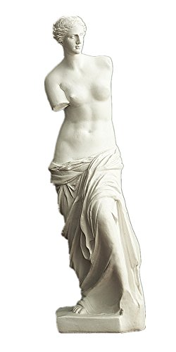 HEYFAIR Venus De Milo Statue Greek Goddess of Love and Beauty Statue Sculpture Figurine Figure Polyresin Home Decor Accents (Venus De Milo)]()
