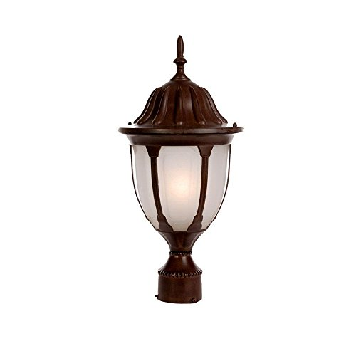 Cheap Acclaim 5067BW/FR Suffolk Collection 1-Light Post Mount Outdoor Light Fixture, Burled Walnut
