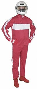 G-Force 4382XLGRD GF 105 Red X-Large Single Layer Racing Pants