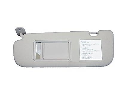 Genuine OEM 852103X000TX Gray Driver Left Inside Sun Visor 1-pc For 2011 ~  2014 719e7794875