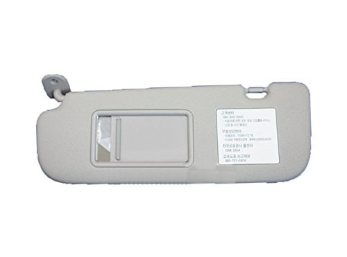 Hyundai Motors OEM Genuine 852103X000TX Gray Driver Left Inside Sun Visor 1-pc For 2011 ~ 2014 Hyundai Elantra : Avante MD
