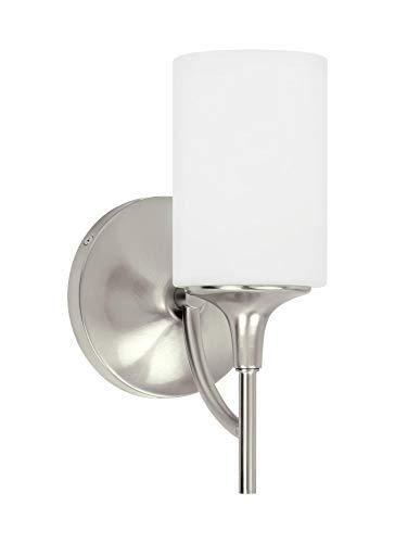 Sea Gull Lighting 44952EN3-962 One Light Wall/Bath Sconce, Brushed ()