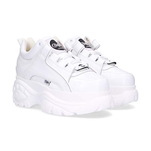 B1339white Buffalo London Sneakers Bianco Donna Pelle Ctwax4Upqw