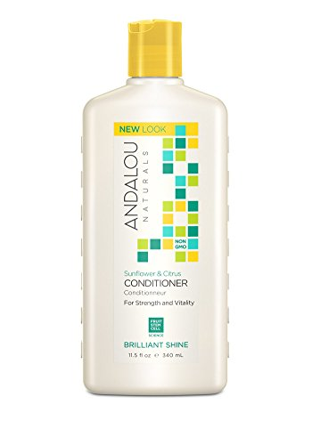 Andalou Naturals Sunflower & Citrus Brilliant Shine Conditioner, 11.5 oz, Helps Give Hair Smooth Shine & De-Frizz Split Ends