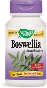 Tablets Extract (Natures Way Standardized Boswellia Extract Tablets- 60 per pack -- 3 packs per case. by Natures Way)