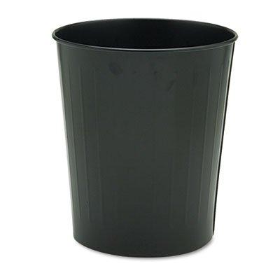 Fire-Safe Wastebasket, Round, Steel, 23.5qt, Black, Sold as 1 Each ()