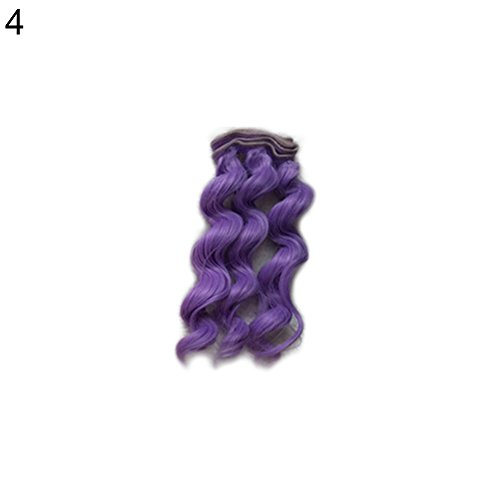 Kekailu Wig 15cm Beautiful Girl Doll Toy DIY Wig Curly Wavy Hair Children BJD Accessories - -