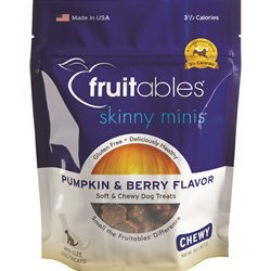 Fruitables Skinny Minis Pumpkin & Berry Chewy Treats 5 oz (12 pack)