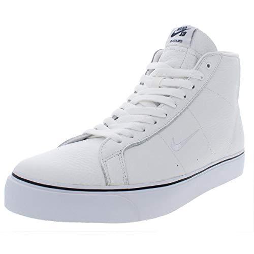 Nike SB Mens Blazer Zoom Mid QS Leather Skateboarding Shoes White 11 Medium (D)
