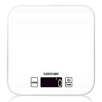 shlemao C1 BK - Báscula de cocina pantalla lcd precisa Digital electrónica de cristal endurecido cocción de alimentos con un peso de precisión (15kgx1g): ...