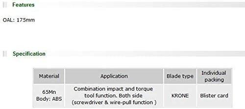 Generic Pro'sKit 8PK-3141AファッションワイヤープルドライバーKRONE 110ターミナルボード圧着装置ワイヤーカッターでインパクトツール