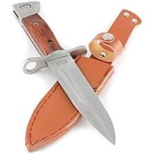 "AK-47 Bayonet Knife, Scabbard, 5,7"" Blade, Wood, NEW !"