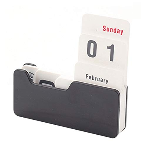 ouying1418 Practical Vintage Manual Desk Perpetual Calendar: Amazon.es