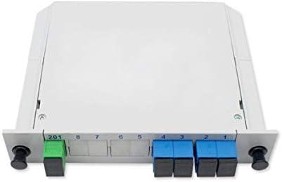 Tivollyff 1分4インサートタイプPlc光学スプリッタークォーターライトScポート1〜4ファイバースプリッターキャリアグレード