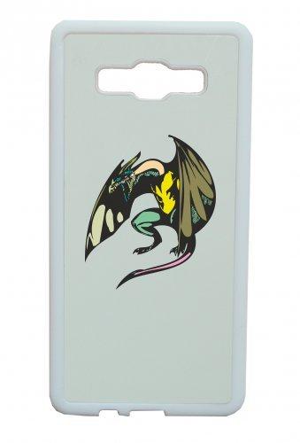 """Smartphone Case Apple IPhone 5/ 5S/ SE """"Flügeldrache mit Schwanz brüllend Cartoon Drachen Dragon fliegen Steinzeit"""" Spass- Kult- Motiv Geschenkidee Ostern Weihnachten"""