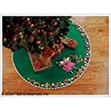 Bucilla Sugar Plum Fairy Tree Skirt Felt Applique Kit-43 Inch Round