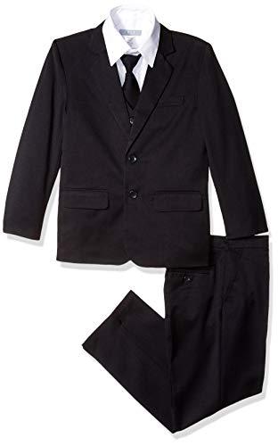 COLE Boys Suit with Shirt and Vest (5-Piece) (16 Husky, Black) (Husky Piece 5 Suit)