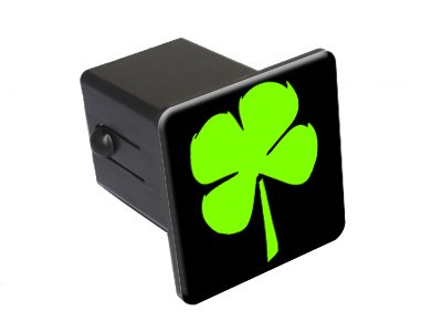 Graphics and More Four Leaf Clover - Irish Luck Tow Trailer Hitch Cover Plug Insert 2