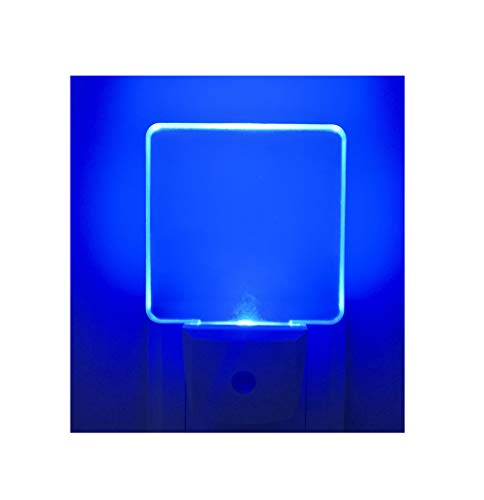 - 2 Pack 0.5W Plug in LED Night Light with Dusk to Dawn Sensor Blue