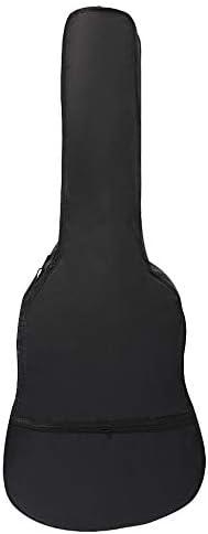Cikuso 41 Pulgadas Bolsa De Guitarra Bolsa De Hombro De Tela Oxford Estuche Con Piezas Y Accesorios De Guitarra De Bolsillo