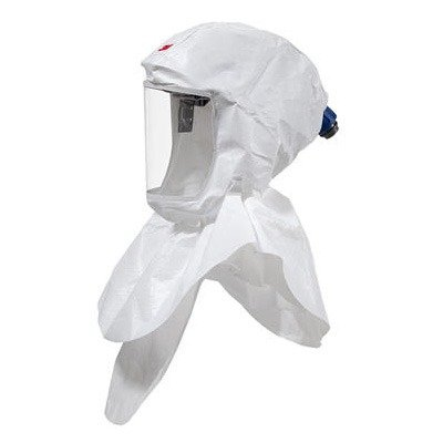 3M S-657 Standard Polypropylene S-Series Versaflo White Hood Assembly With Inner Shroud And Premium Head Suspension (For Use With Certain Powered Air Purifying), 15.34 fl. oz, 8.93