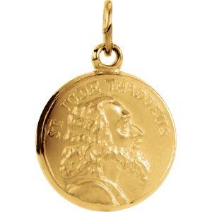 14K jaune 13mm St. Jude Thaddée Médaille