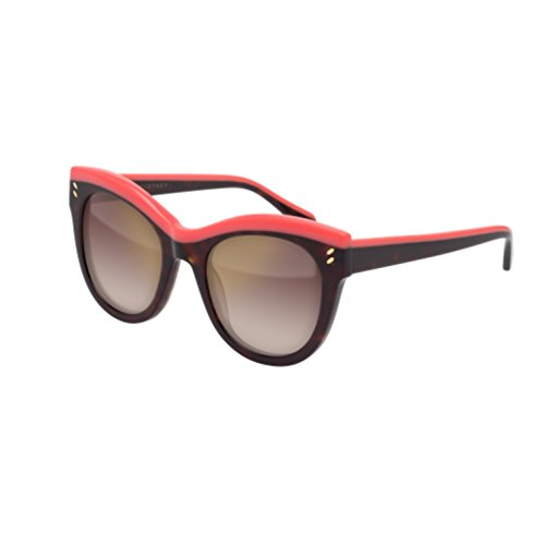 Stella McCartney Women's Top Accent Cat Eye Sunglasses, Havana Bright Pink/Brown, One - Stella Sunglasses Mccartney