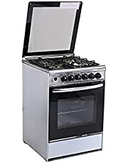 Tecno-Gaz Stove 55X55 , 4 Flame - Black Silver