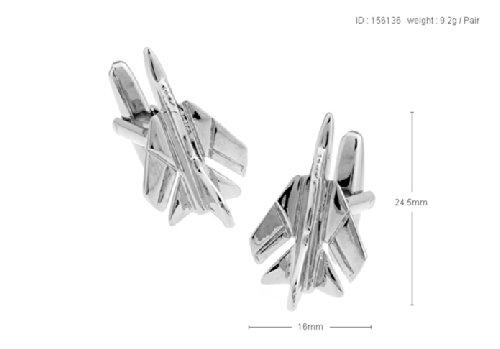 Ashton /& Finch Mach 5 Avion Boutons de manchette Avec bo/îte de pr/ésentation laiton massif Plaqu/é rhodium