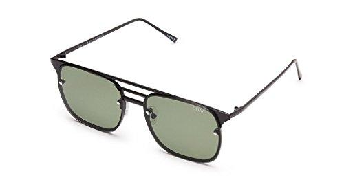 Quay Hendrix Heights Sunglasses | Cat Eye Aviator Frames | UV Protection (Black, - Hendrix Sunglasses
