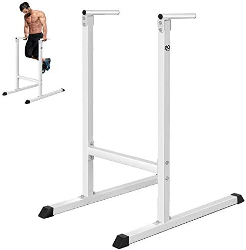 Goplus Dip Stand Dip Bar Heavy Duty Pull Up Paralle Bar Fitness for Bicep Tricep Exercise Workout in Home Gym Freestanding Dipping Station Power Tower