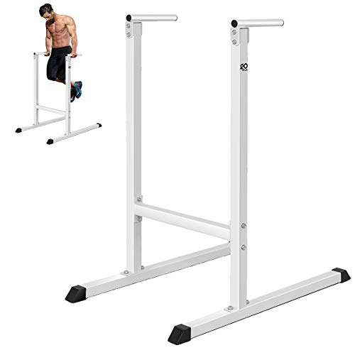 GOPLUS Dip Stand Dip Bar Heavy Duty Pull Up Paralle Bar Fitness for Bicep Tricep Exercise Workout in Home & Gym Freestanding Dipping Station Power Tower