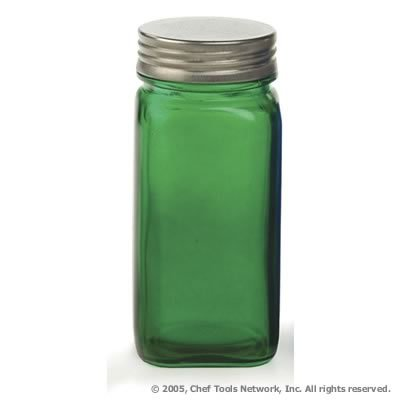 4 Ounce Green Glass Spice Jar by RSVP