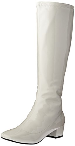 White Knee Boots (N.Y.L.A. Women's Dodda Chelsea Boot, White-Pa, 10 M US)