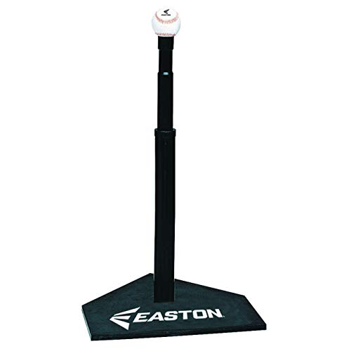 EASTON DELUXE Baseball Softball Batting Tee | 2020 | Durable All Rubber Batting Tee | Easy Height Adjustment For Perfect Practice | Heavy Duty Solid Rubber Base Provides Ultimate Stability (Easton Deluxe Batting Tee)