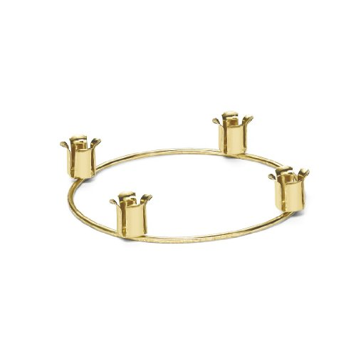 Root Candles Brass Advent Candle Holder ()