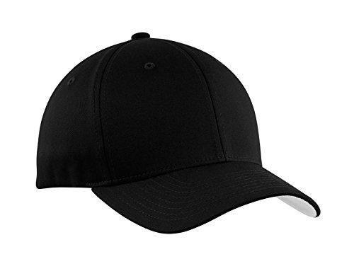 Port Authority Men's Flexfit Cotton Twill Cap L/XL Black (Authority Mens Port Hat Flexfit)