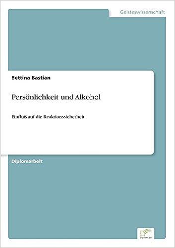 Book Persönlichkeit und Alkohol: Einfluß auf die Reaktionssicherheit