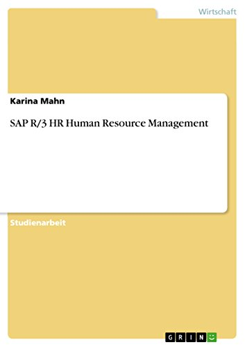 Download SAP R/3 HR Human Resource Management (German Edition) Pdf