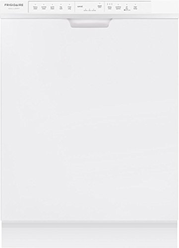 Frigidaire FGCD2444SW 24″ Built-In Dishwasher with 14 Place Settings 34 Minute Quick Clean OrbitClean Spray Arm DishSense Technology and Effortless Dry in