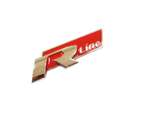 Dian Bin- R-line Red Metal Grille Hold Vehicle-badge Logo Emblem Badge for Volkswagen Vw Available
