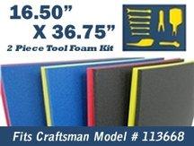 5S Tool Box Shadow Foam Organizers (2 Color) FITS Craftsman Model# 113668 (16.5