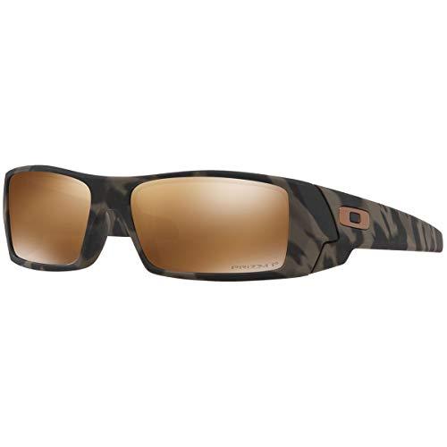 Oakley Men's OO9014 Gascan Rectangular Sunglasses, Matte Olive Camo/Prizm Tungsten Polarized, 60 mm