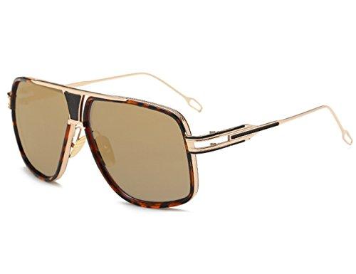 Retro Estilo Círculo Wayfarer Redondo Gafas Retro Clásico Metálico De Hombre Vintage Dorado dorado Sol Unisexo Polarizado UxXTqWHwS