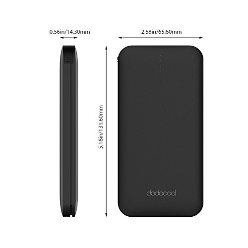 dodocool potential Bank mobile or portable Charger 10000 mAh two times productiveness along with made in Micro USB Cable USB C Type C Adapter and USB Charging Port for Smartphones Tablets and more trave Chargers